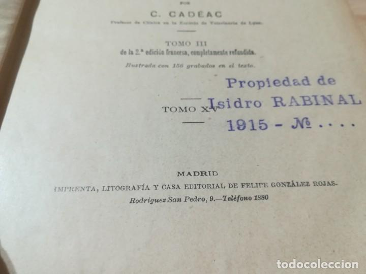 Libros antiguos: ENCICLOPEDIA VETERINARIA CADEAC / TOMO III PATOLOGIA INTERNA / PANCREAS HIGADO PERITORENO FOSAS NASA - Foto 7 - 227038350