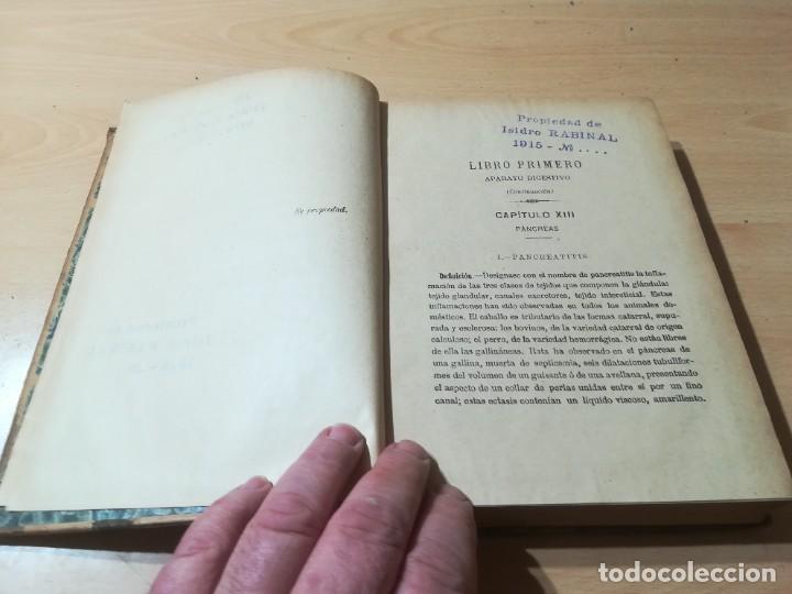 Libros antiguos: ENCICLOPEDIA VETERINARIA CADEAC / TOMO III PATOLOGIA INTERNA / PANCREAS HIGADO PERITORENO FOSAS NASA - Foto 8 - 227038350