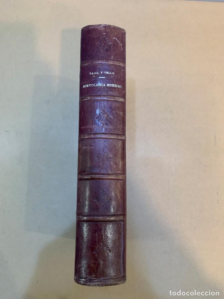 RAMON Y CAJAL / TELLO Y MUÑOZ / ELEMENTOS DE HISTOLOGIA NORMAL Y DE TECNICA MICROGRAFICA (Libros Antiguos, Raros y Curiosos - Ciencias, Manuales y Oficios - Bilogía y Botánica)