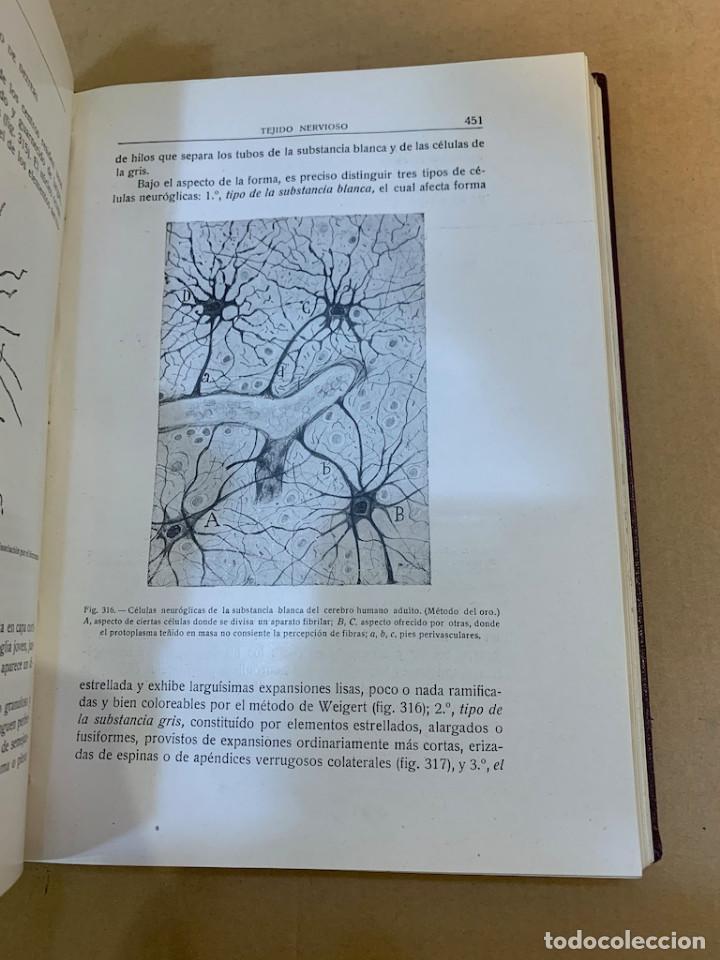 Libros antiguos: RAMON Y CAJAL / TELLO Y MUÑOZ / ELEMENTOS DE HISTOLOGIA NORMAL Y DE TECNICA MICROGRAFICA - Foto 13 - 227193620