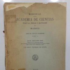 Libros antiguos: LUIS LOZANO REY: PECES FLUVIALES DE ESPAÑA. 1935. (TEMAS: PESCA, PECES DE RÍO, PESCADORES). Lote 227710535