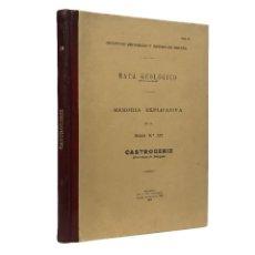 Livres anciens: INSTITUTO GEOLÓGICO Y MINERO DE ESPAÑA / MAPA GEOLÓGICO MEMORIA HOJA Nº 237 CASTROGERIZ / (1931). Lote 228245520