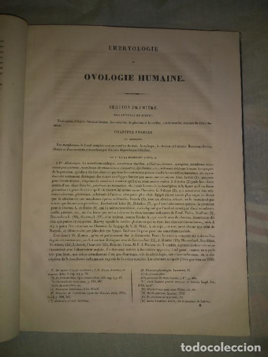 Libros antiguos: EMBRIOLOGIA O OVOLOGIA HUMANA - AÑO 1834 - VELPEAU - BELLAS PLANCHAS EN FOLIO. - Foto 3 - 229213030