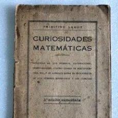 Libros antiguos: CURIOSIDADES MATEMÁTICAS, PRIMITIVO LAHOZ. Lote 230611560