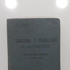Libros antiguos: EJERCICIOS Y PROBLEMAS DE ARITMETICA CON SUS RESOLUCIONES Y RESPUESTAS.G. M. BRUÑO. MADRID. Lote 232367030
