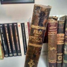 Libros antiguos: CURSO DE FÍSICA Y QUÍMICA - FELIÚ - 3ª EDICIÓN, 1876 - MEDIA PIEL. Lote 232920450