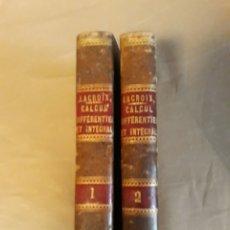 Libros antiguos: CALCUL DIFFERENTIEL ET INTEGRAL . LACROIX . 2 TOMOS . 1861. Lote 233507520