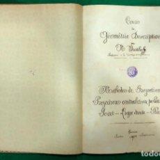Libros antiguos: LOUZO DE GEOMETRIE DESCRIPTIVE - M . BREITHOF / MUNDI-644 , BUEN ESTADO. Lote 233641085