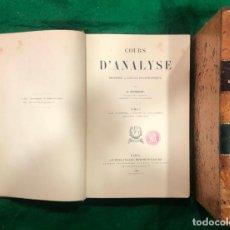 Libros antiguos: COURS D´ANALYSE - G. HUMBERT / 2 TOMOS / MUNDI-616. Lote 234463895