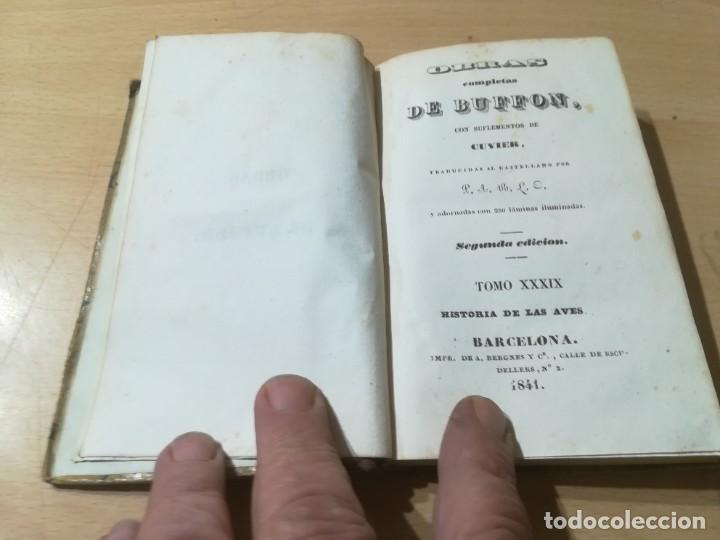 Libros antiguos: OBRAS COMPLETAS DE BUFFON / XXXIX HISTORIA DE LAS AVES / 1841 BERGNES Y Cª BARCELONA / F207 - Foto 4 - 234797835