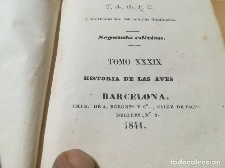 Libros antiguos: OBRAS COMPLETAS DE BUFFON / XXXIX HISTORIA DE LAS AVES / 1841 BERGNES Y Cª BARCELONA / F207 - Foto 6 - 234797835