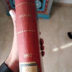 Libros antiguos: ANALES DE FISICA Y QUÍMICA 1907.. Lote 234879730