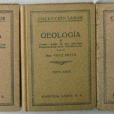 Libros antiguos: GEOLOGIA - 3 LIBROS COMPLETA - FRITZ FRECH - ED. LABOR 1930/41 - VER DESCRIPCIÓN E INDICES. Lote 235168650