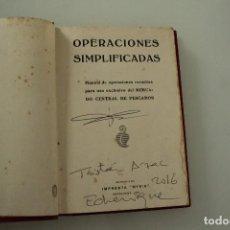 Libros antiguos: OPERACIONES SIMPLIFICADAS MERCADO CENTRAL DE PESCADO IMPRENTA MYRIA. Lote 235278515