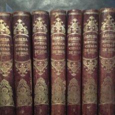 Libros antiguos: MISTICA CIUDAD DE DIOS MILAGRO DE SU OMNIPOTENCIA, SOR MARIA JESUS AGREDA, 1860, 7 TOMOS COMPLETO. Lote 235328920