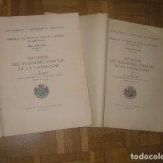 Libros antiguos: J. LAMBERT: - REVISIÓN DES ECHINIDES FOSSILES DE LA CATALOGNE. (I ET II PARTIE) - (BARCELONA, 1928). Lote 236035970