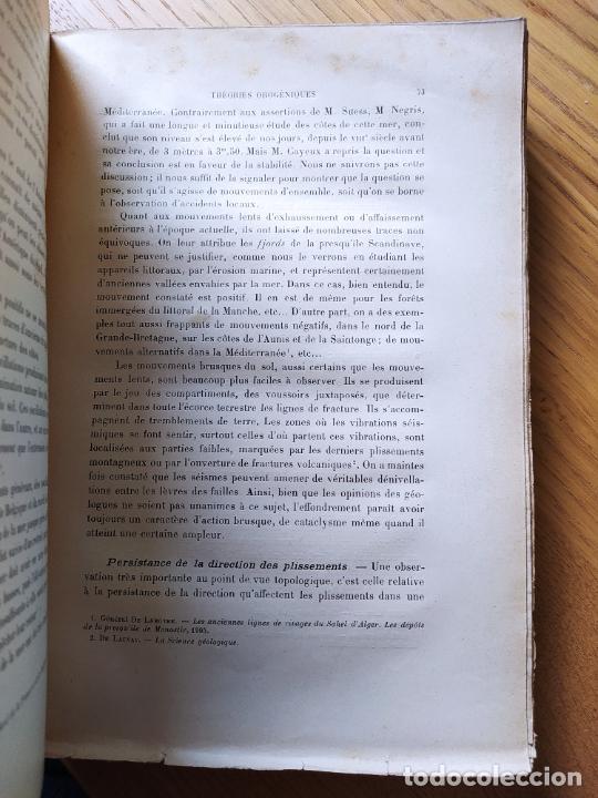 Libros antiguos: Geologie. Topologie, Etude du terrain par Le General Berthaut, ed. Chapelot, 1913. Rare - Foto 8 - 238797040