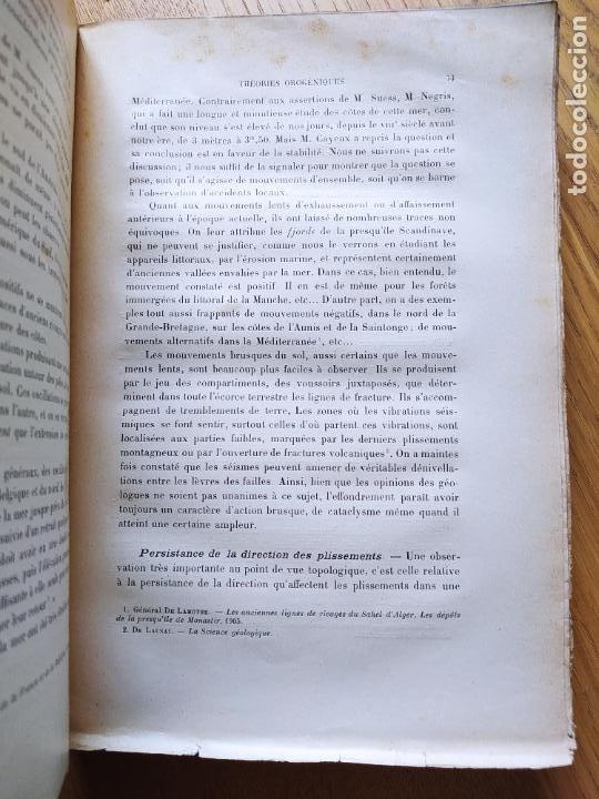 Libros antiguos: Geologie. Topologie, Etude du terrain par Le General Berthaut, ed. Chapelot, 1913. Rare - Foto 9 - 238797040
