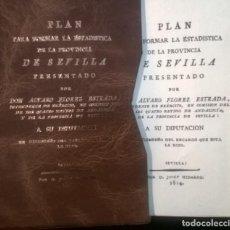 Libros antiguos: FACSIMIL ELABORADO POR EL I.N.E. PLAN PARA FORMAR LA ESTADISTICA DE ANDALUCÍA Y SEVILLA. AÑO 1814. Lote 239713645