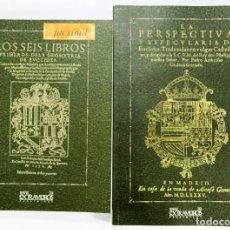 Libros antiguos: EUCLIDES. 2 EDICIONES FACSÍMILES DE OBRAS DE 1576 Y 1585 GEOMETRÍA MATEMÁTICAS ALEJANDRÍA PTOLOMEO I. Lote 240060085