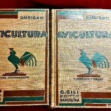 Livros antigos: TRATADO DE AVICULTURA ,DE BRUNO DURIGEN, EDITORIAL GUSTAVO GILI, BARCELONA 1931 Y 1947 IMPECABLES!!. Lote 241355720