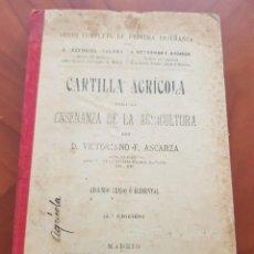 Libros antiguos: CARTILLA AGRICOLA ENSEÑANZA AGRICULTURA ASCARZA MADRID 1906. Lote 242104600