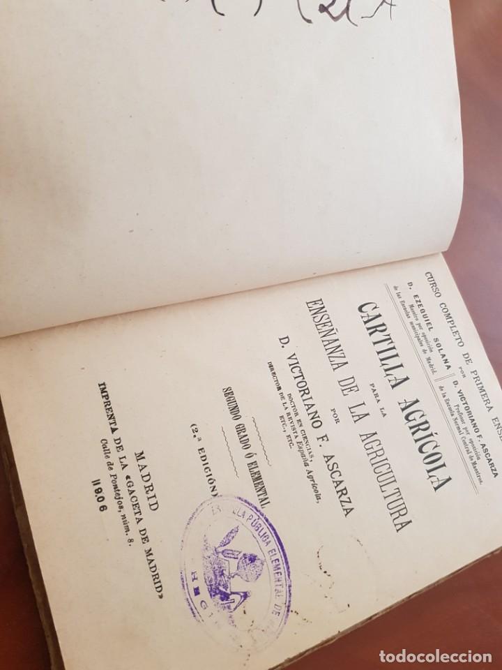 Libros antiguos: CARTILLA AGRICOLA ENSEÑANZA AGRICULTURA ASCARZA MADRID 1906 - Foto 2 - 242104600