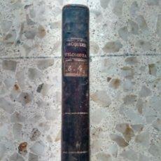 Libros antiguos: INSTITUCIONES FILOSÓFICAS - FRANCISCO JACQUIER - TOMOS 3º Y 4º - MADRID, 1787-88 - PLENA PIEL. Lote 243432240