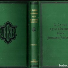 Libros antiguos: GUIDE DU NATURALISTE PREPARATEUR ET DU VOYAGEUR SCIENTIFIQUE (PARIS, 1883) TAXIDERMIA. Lote 243604515