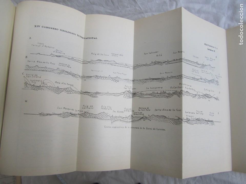 Libros antiguos: Isla de Mallorca, Excursiones del XIV Congreso Geológico Internacional 1926, Encuadernación Calleja - Foto 10 - 243849260