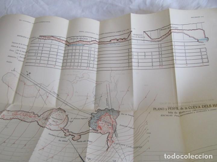 Libros antiguos: Cuevas de Mallorca Excursiones del XIV Congreso Geológico Internacional 1926, Encuadernación Calleja - Foto 11 - 243849370