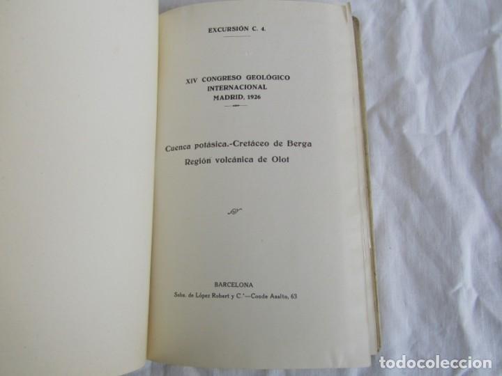 Libros antiguos: Cataluña, Excursiones del XIV Congreso Geológico Internacional 1926, Encuadernación Calleja - Foto 6 - 243849505