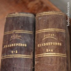 Libros antiguos: BUFON HISTORIA NATURAL CUADRÚPEDOS 4 TOMOS 1847. Lote 244974050