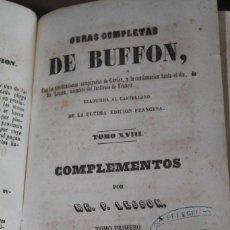 Libros antiguos: BUFON HISTORIA NATURAL, COMPLEMENTOS, 1847. Lote 244974735