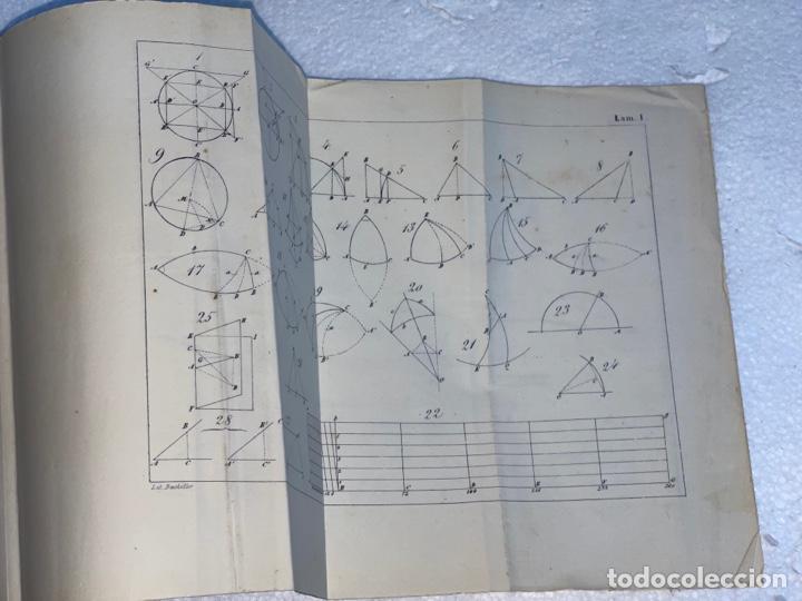Libros antiguos: Antiguo libro del tratado de trigonometría rectilínea y esférica del año 1854 una 3 edición - Foto 3 - 245412870