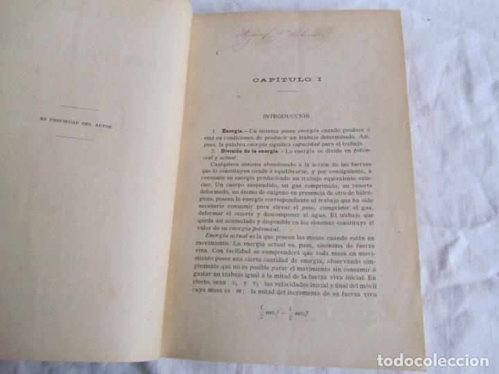 Libros antiguos: Calor, su estudio y aplicaciones industriales, José Mestres Gómez, 1905 - Foto 10 - 245454450