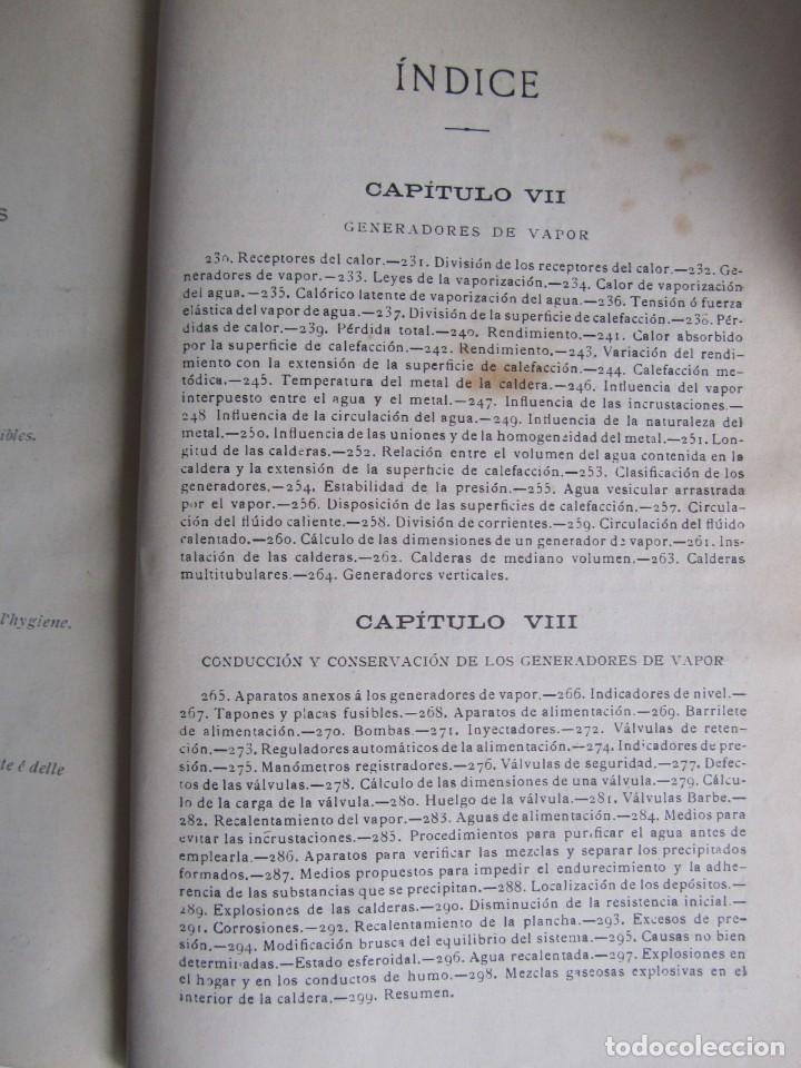 Libros antiguos: Calor, su estudio y aplicaciones industriales, José Mestres Gómez, 1905 - Foto 16 - 245454450