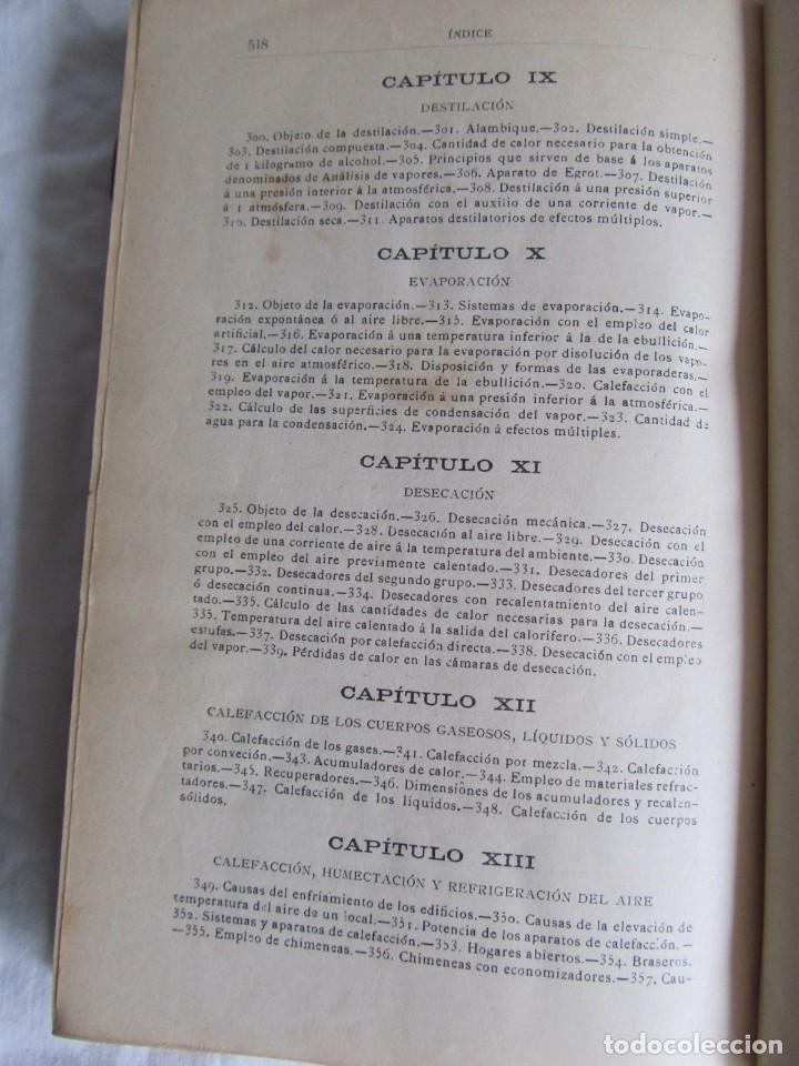 Libros antiguos: Calor, su estudio y aplicaciones industriales, José Mestres Gómez, 1905 - Foto 17 - 245454450