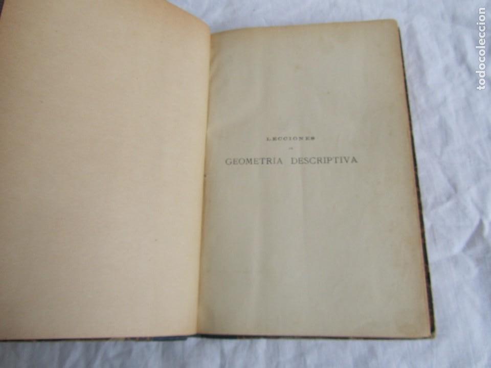 Libros antiguos: Lecciones de Geometría Descriptica, R. Aparici, 1903 - Foto 7 - 245454730