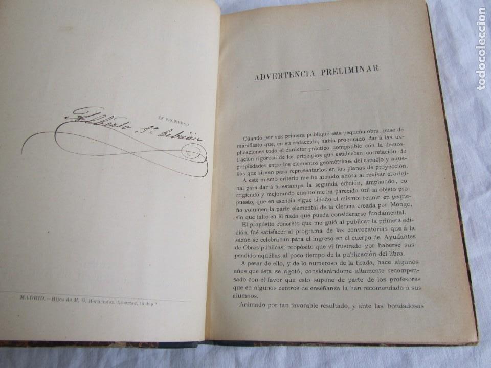 Libros antiguos: Lecciones de Geometría Descriptica, R. Aparici, 1903 - Foto 9 - 245454730