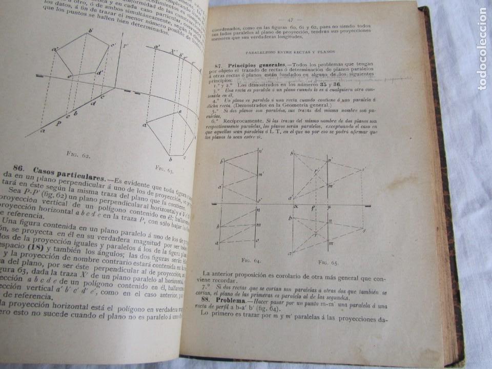 Libros antiguos: Lecciones de Geometría Descriptica, R. Aparici, 1903 - Foto 10 - 245454730