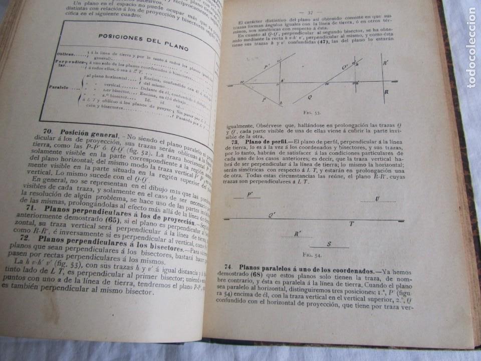 Libros antiguos: Lecciones de Geometría Descriptica, R. Aparici, 1903 - Foto 11 - 245454730