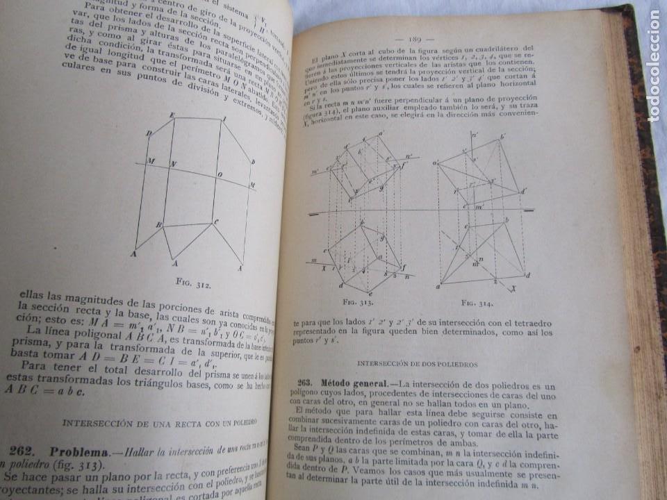 Libros antiguos: Lecciones de Geometría Descriptica, R. Aparici, 1903 - Foto 12 - 245454730