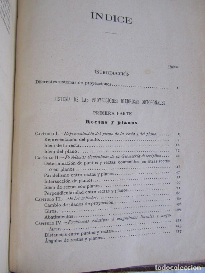 Libros antiguos: Lecciones de Geometría Descriptica, R. Aparici, 1903 - Foto 14 - 245454730