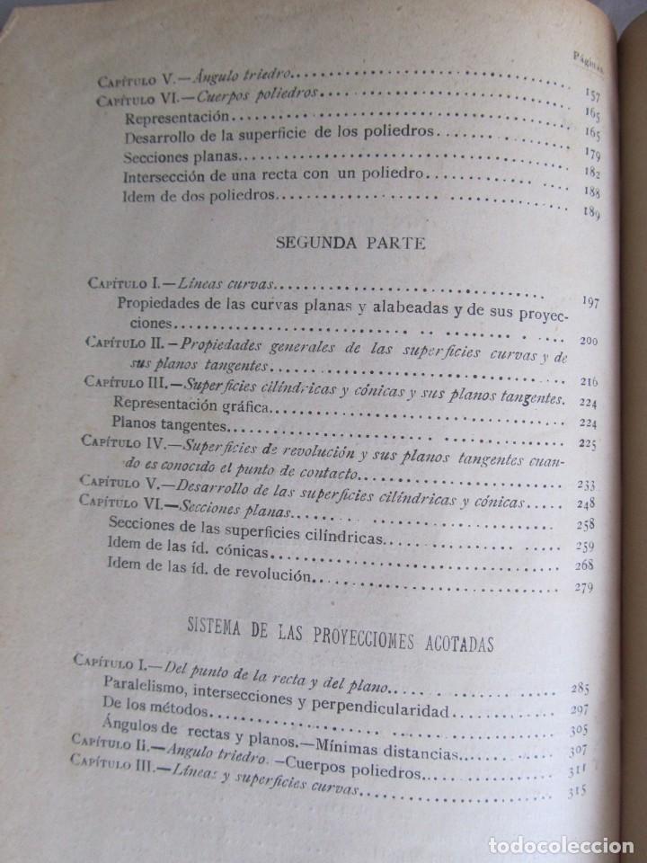 Libros antiguos: Lecciones de Geometría Descriptica, R. Aparici, 1903 - Foto 15 - 245454730
