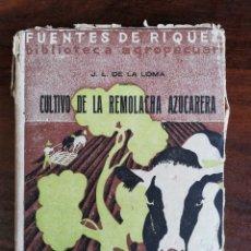 Libros antiguos: CULTIVO DE LA REMOLACHA AZUCARERA. J.L. DE LA LOMA. 1933. Lote 246266490