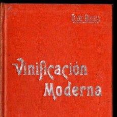 Libros antiguos: RUEDA : VINIFICACIÓN MODERNA (MANUALES SOLER) ENOLOGÍA. Lote 247485765