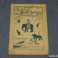 Livres anciens: (MF) LIBRO CATALOGO DEL PARQUE ZOOLÓGICO MUNICIPAL BARCELONA 1897, IMP. HERICH Y CIA. Lote 247963505