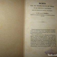 Libros antiguos: DOCUMENTS SUR LES TREMBLEMENTS DE TERRE ET VOLCANIQUES ALEXIS PERREY DIJON. Lote 248104075