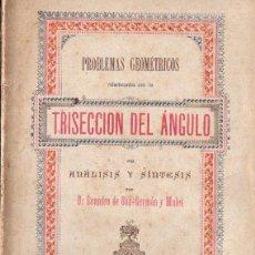 Libros antiguos: SAN GERMÁN Y MALET : TRISECCION DEL ÁNGULO (1886). Lote 248753090